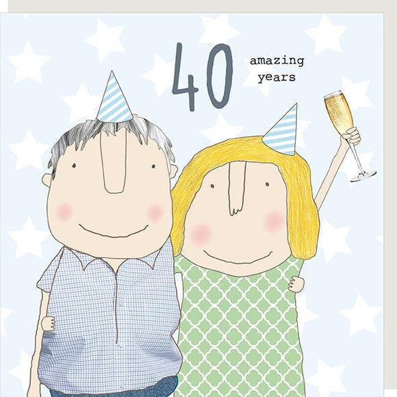 40 Amazing Years Anniversary Card