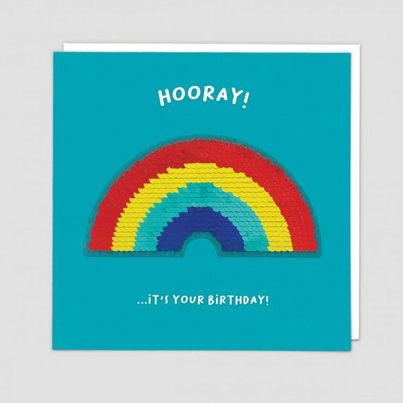 Rainbow Reversible Sequin Card