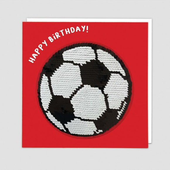 Football Reversible Sequin Card
