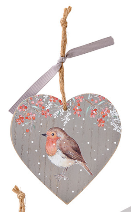 Winter Heart Robin Hanger