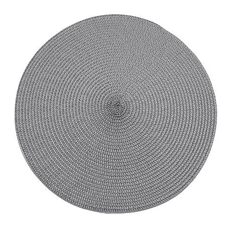 Storm Grey Ribbed Circular Placemat