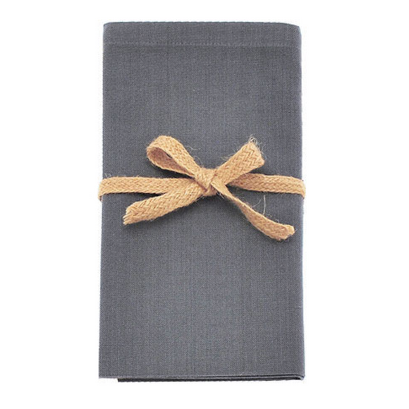 Storm Grey Fabric Napkin Set of 4