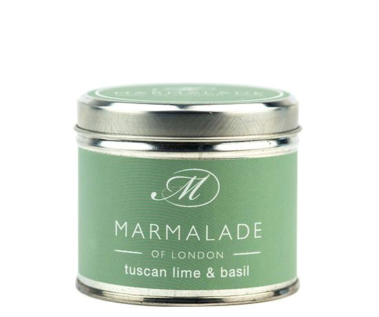Tuscan Lime & Basil Medium Candle Tin