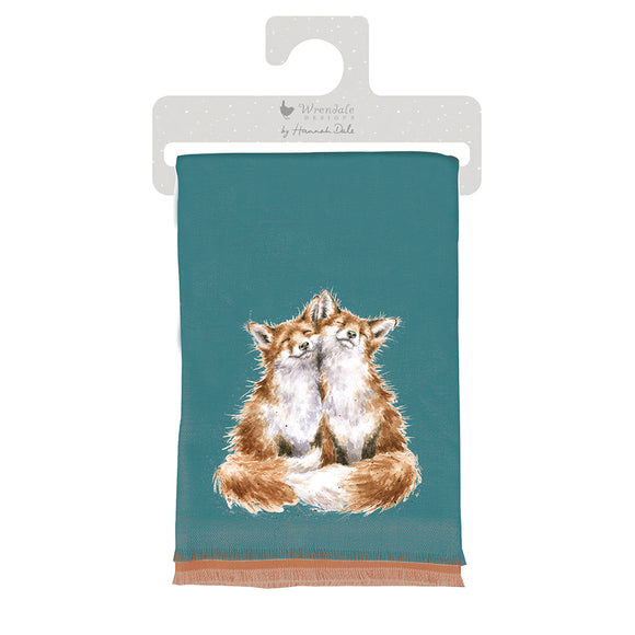 Wrendale Contentment Foxes Winter Scarf
