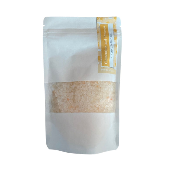 Wild Olive Clementine & Prosecco Bath Salt Pouch