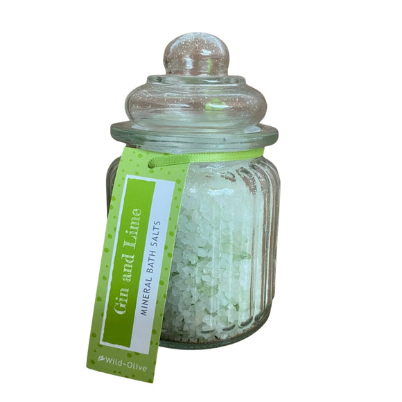 Wild Olive Gin & Lime Bath Salt Jar