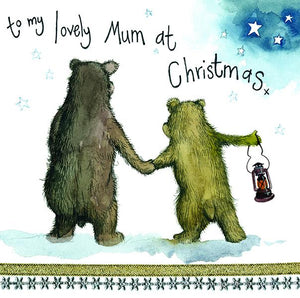 Night Bear Mum Christmas Card