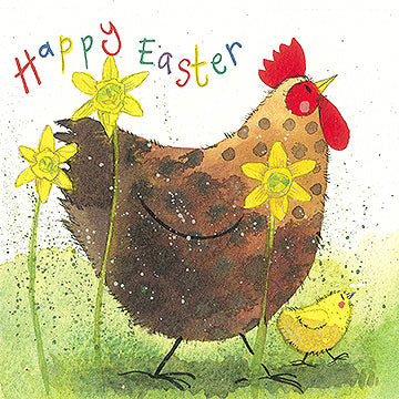 Hen Happy Easter Card