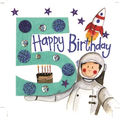 Alex Clark 5th Birthday Space Card