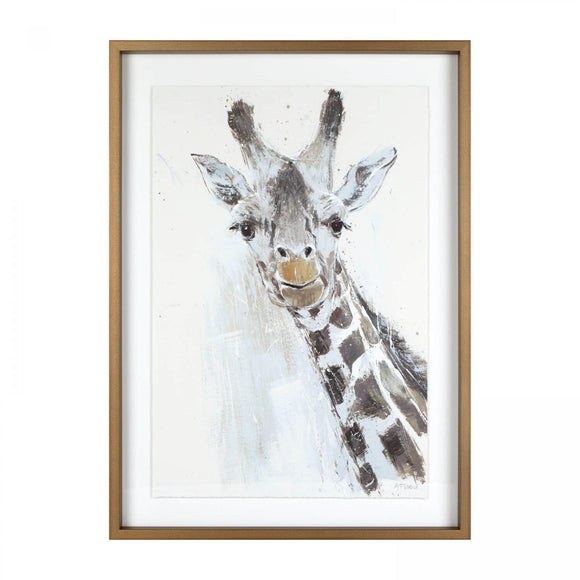 Jeffrey; Giraffe framed picture by Adelene Fletcher