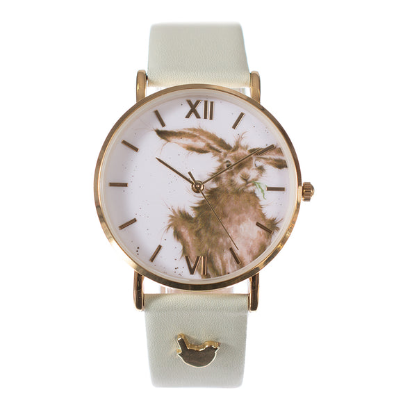 'Hare-Brained' Watch Vegan Green Leather Strap