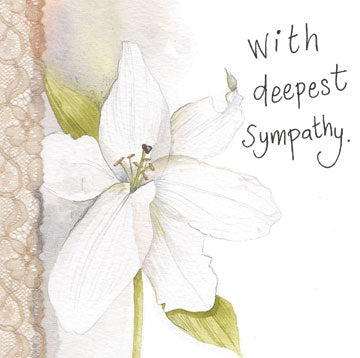 Lily Deepest Sympathy Card