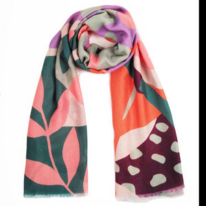 Printed Scarf Modern Parrot by Powder