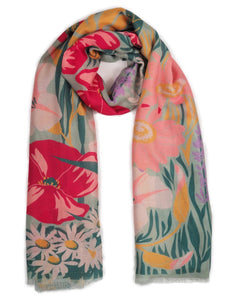 Printed Scarf Country Garden Mint by Powder