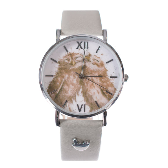 'Birds of a Feather' Watch Vegan Grey Leather Strap