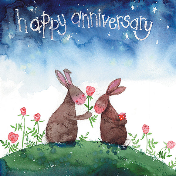 Rabbits Anniversary Card