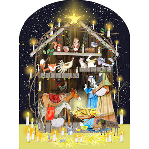 Nativity Animals Advent Calendar