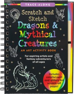 Scratch Sketch Dragons Mythical Creature