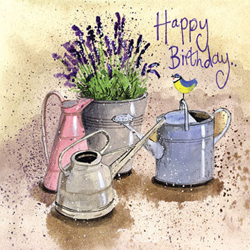 In the Garden Lavender Birthday Card