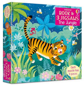 The Jungle Jigsaws with Book