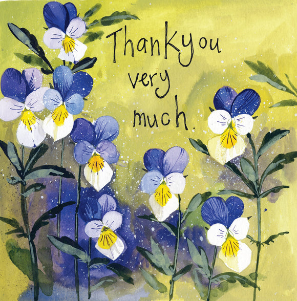 Pansies Thank You Card