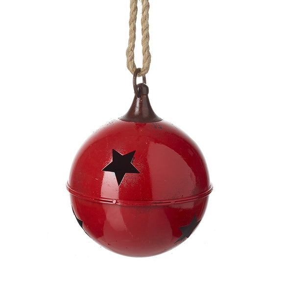 Large Red Metal Bell
