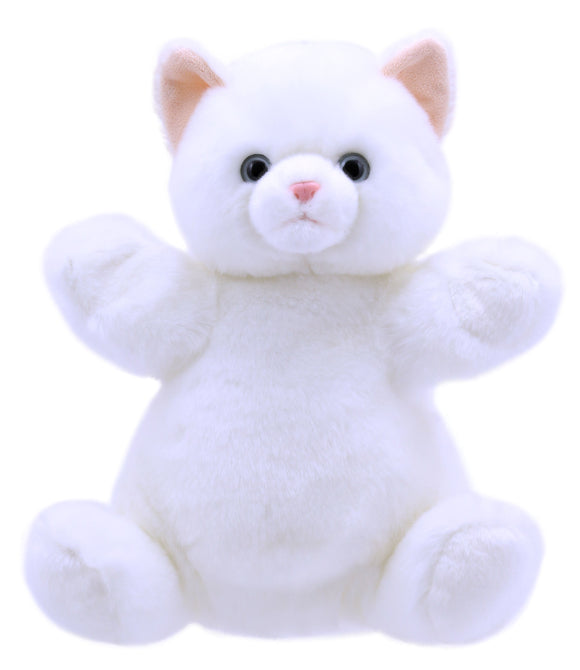 White Cat Cuddly Tumms Puppet