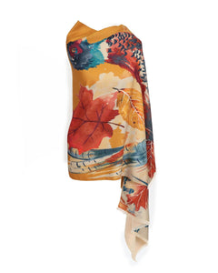 Watercolour Pheasant Luxurious Scarf Wrap