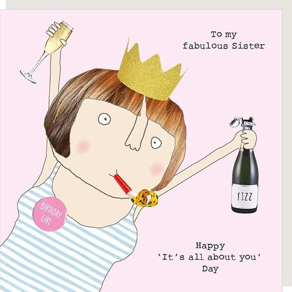 Sister All About You Day Birthday Card