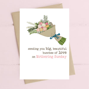 Bunches Of Love On Mothering Sunday Card