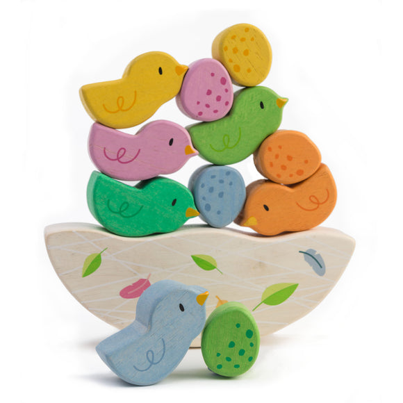 Wooden Rocking Baby Birds