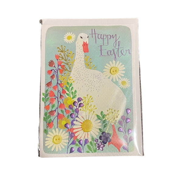 Springtime Goose Happy Easter Card