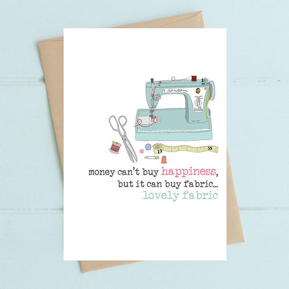 Money Can Buy Fabric Card