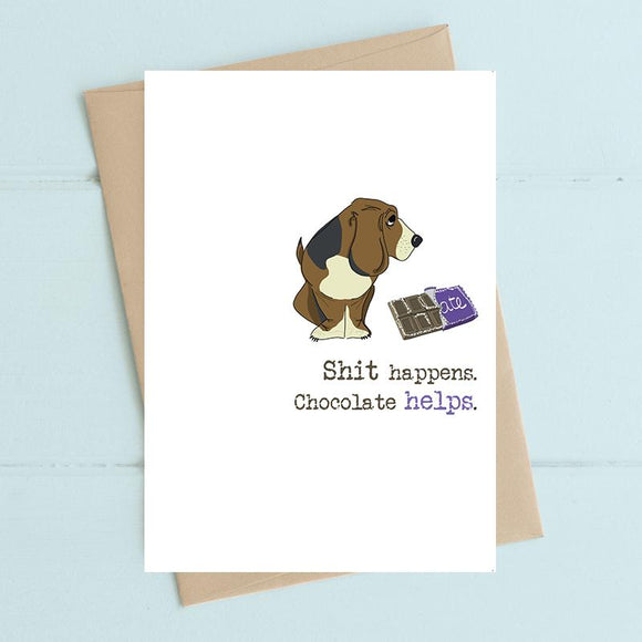 Chocolate Helps Card