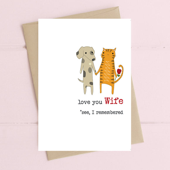 Love You Wife, I Remembered Card