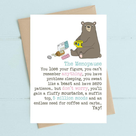 Menopause Moustache Card