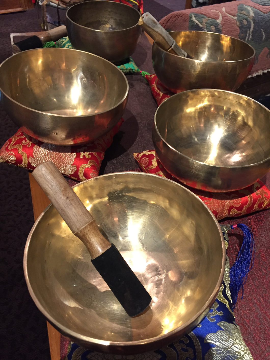 *Seven Metal, Hand Made Tibetan Singing Bowl - IN STOCK, call for information 612 926 8723