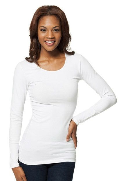 Modbod Basic Long Sleeve Scoop White