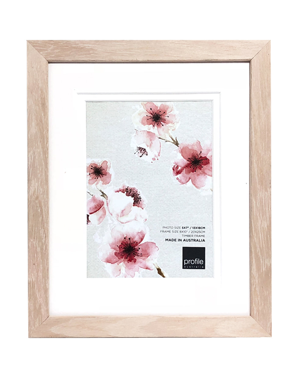 10420 Polar Birch Double matted Photo Frame