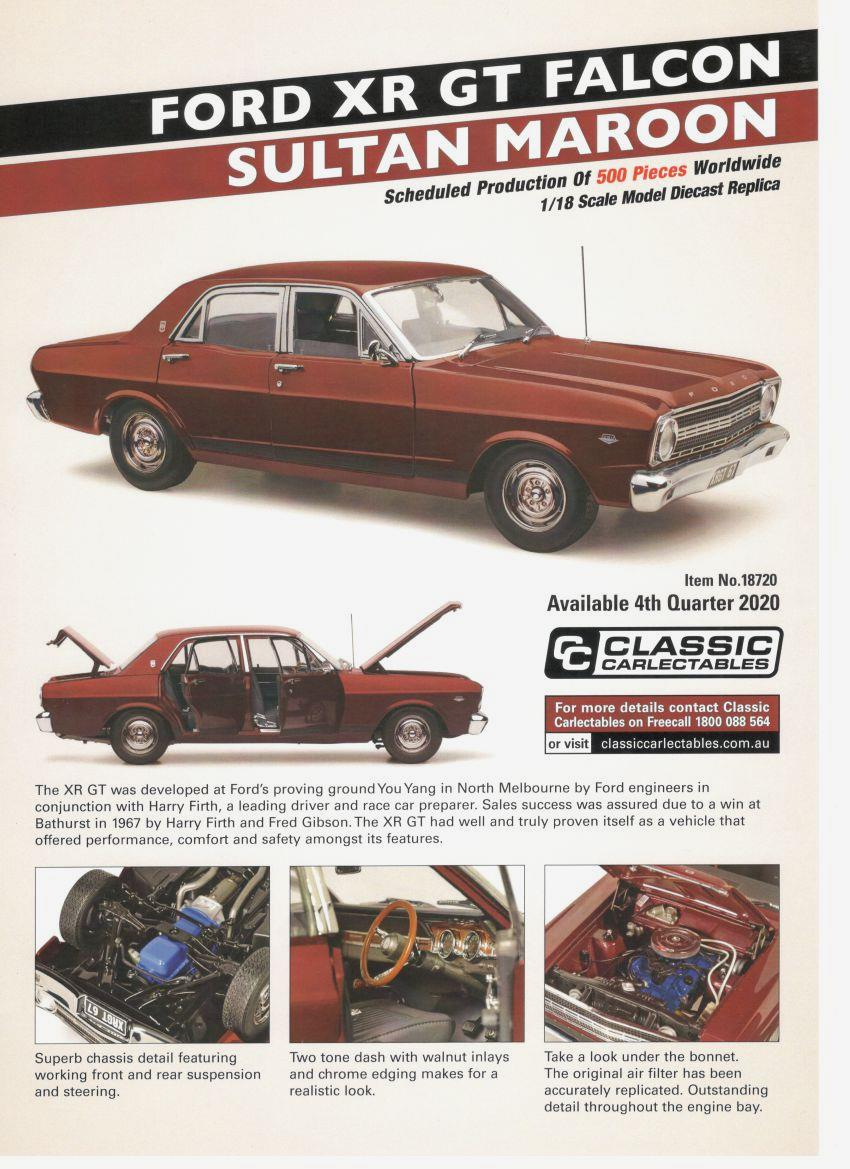Classic Carlectables FORD XR GT FALCON SULTAN MAROON PREORDER