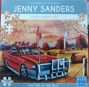 Jenny Sanders Tough Aussie Utes - Red Ute  1000 piece Jigsaw