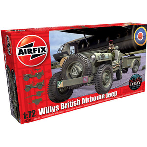 Airfix Willys Jeep, Trailer & 6PDR 1:72 02339
