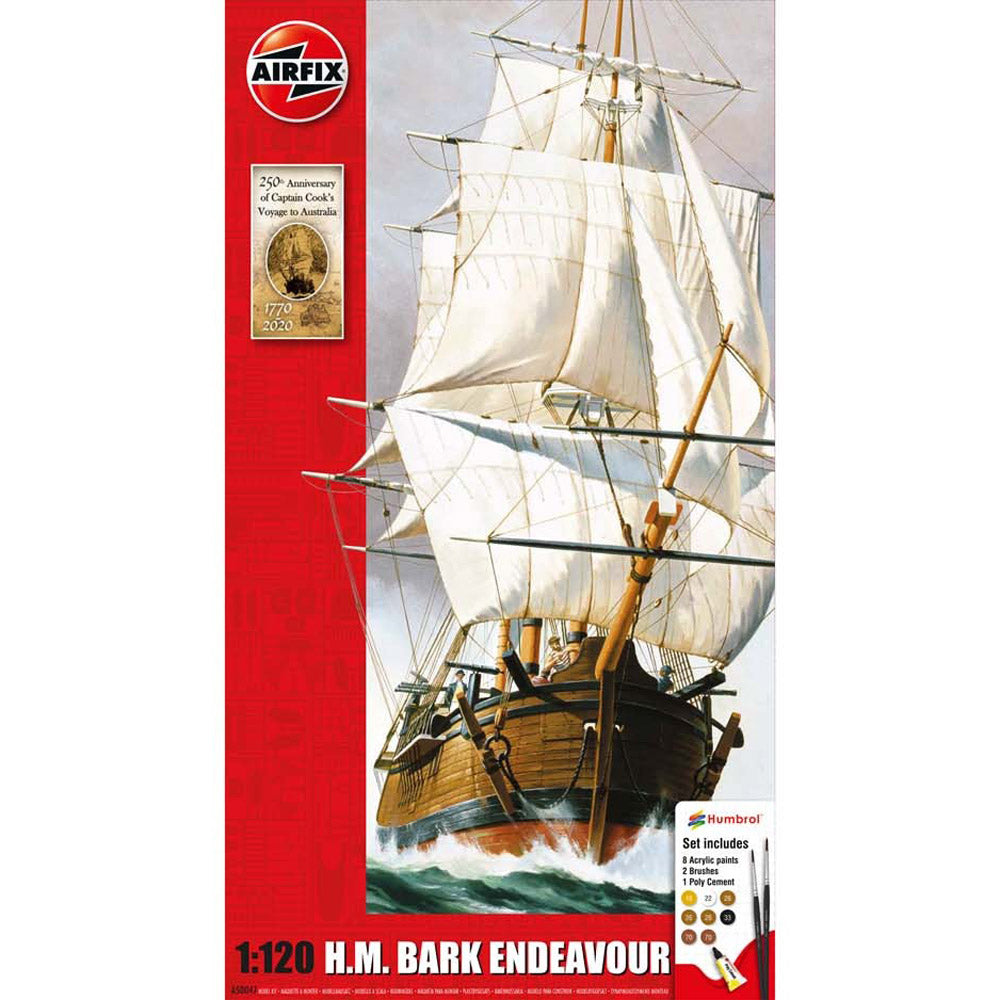 AIRFIX ENDEAVOUR BARK AND CAPTAIN COOK 250TH ANNIVERSARY 1:120 50042