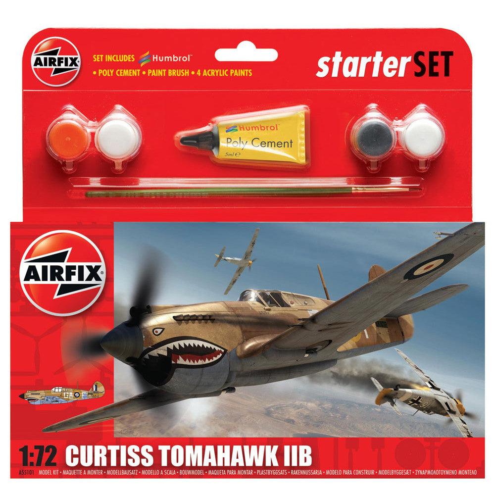 AIRFIX CURTISS TOMAHAWK 11B 1:72 STARTER SET 55101
