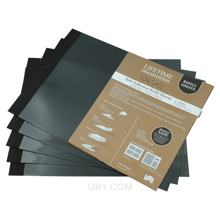 NCL Self Adhesive Jumbo Album Refills 5 Sheets
