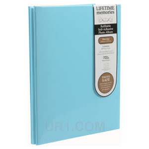 NCL Self Adhesive Slim Blue Refillable Album White Pages Photo Album