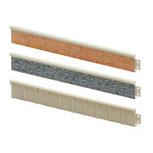 Peco Platform Edging - Stone 168mm LK61