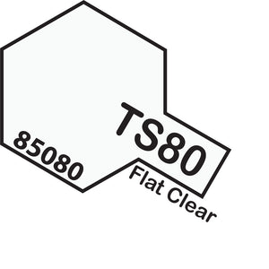 Tamiya TS-80 Flat Clear Spray Paint