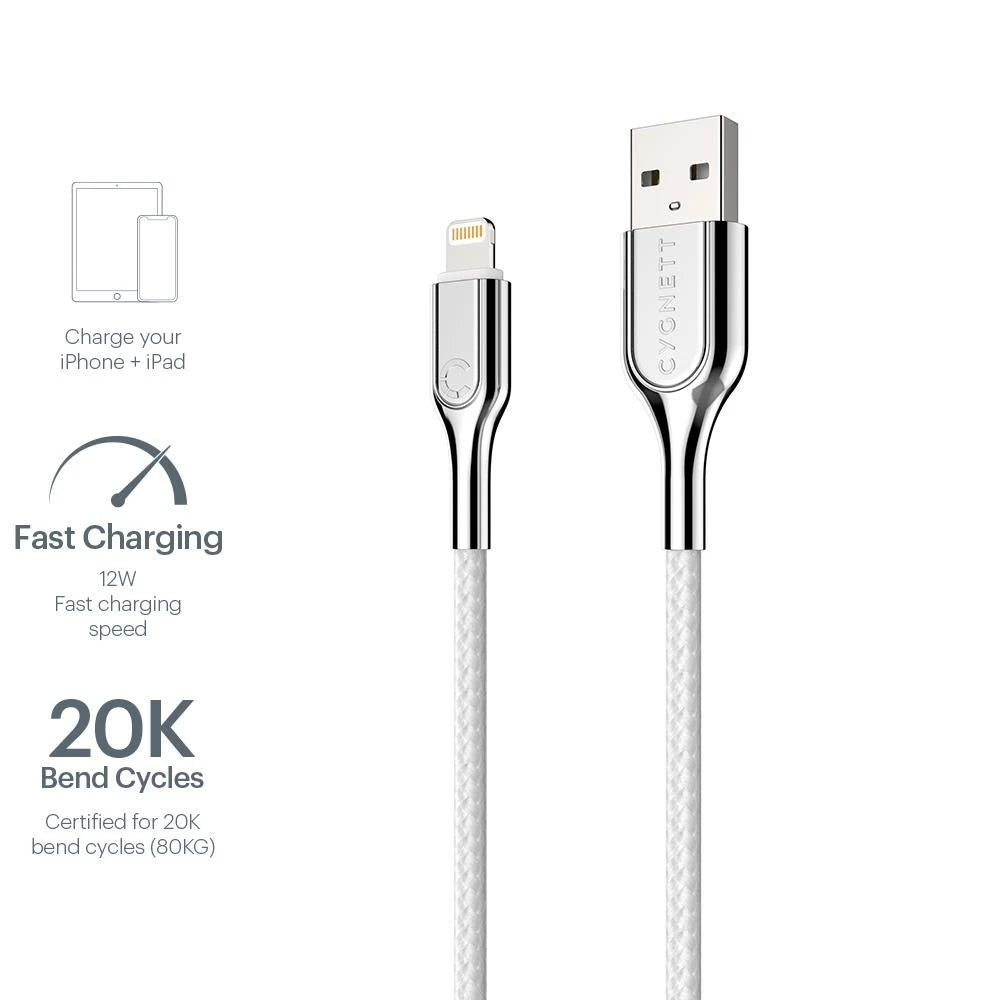 Cygnett Armoured USB Lightning Cable 2m CY2686PCCAL