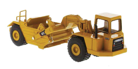 CAT 611 Wheel Tractor Scraper 1:64 Scale Diecast 85695